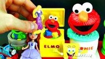Sesame Street Pop Up Pals Surprise Eggs Baby Toys | Learn Colors with Ernie Elmo Cookie Mo