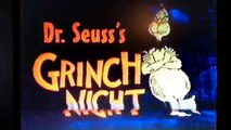 Opening and Closing to Dr. Seusss Grinch Night Sing-Along Classics VHS 1996