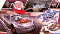 Cars Silver Stunt Racers Lightning McQueen Crank Launcher Playset Disney Pixar toys Lanceur chrome