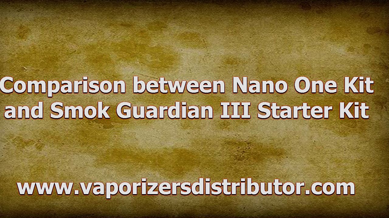 Comparison between Smok R-Steam Nano One Kit and Smok Guardian III Kit