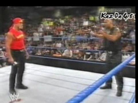 The Rock Confronts Hulk Hogan