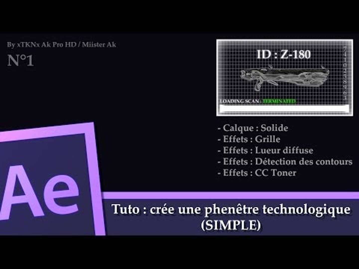 Tuto After Effect : N°1 Crée une fenêtre technologique  (simple)