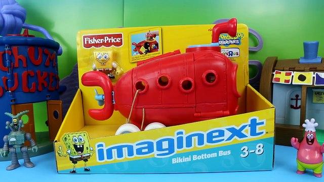 Imaginext Bikini Bottom Bus Spongebob Squarepants Patrick and Krabby Patties Just4fun290
