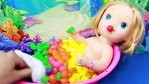 CANDY SURPRISE BATH Rainbow BABY ALIVE Bath Jelly Beans Candy Rainbow Learn Spelling Colors Toys