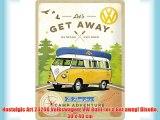 Nostalgic Art 23208 Volkswagen VW Bulli-let's Get away! Diseño 30 x 40 cm