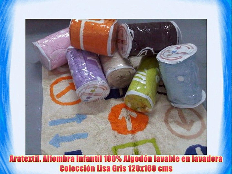 Celeste 120x160 cm Aratextil Topos Alfombra Infantil Algod/ón