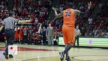 Watch: College basketball player intentionally trips referee