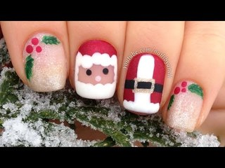 Nail Art Tutorial: Cute and Easy Christmas Mix & Match