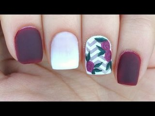 Mix & Match Nails : French Fade / Chevron / Floral