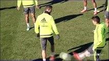 Así ha sido el entrenamiento de Cristiano Ronaldo con los u201cseñaladosu201d por sus críticas