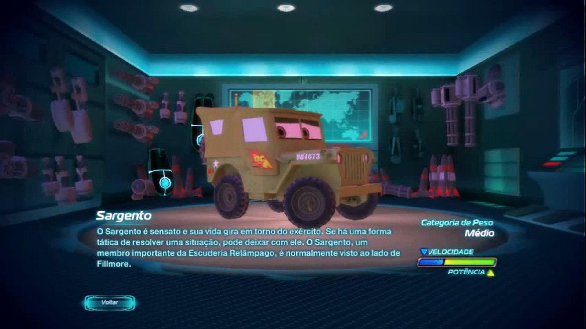 Cars 2 SARGENTO Português/Brasileiro - Personagem do Filme (Descrição completa) [GAMEPLAY]