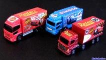 Tomica Disney Cars Trucks 3-pack Dinoco Rust-eze Lightning McQueen 2013 Pixar Takara Tomy caminhões