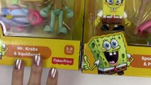 Spongebob Squarepants Patrick Mr. Krabs Squidward Playset Toy Review by Cookieswirlc