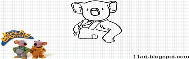 How to Draw Frank from the The Koala Brothers - Video- The Koala Brothers