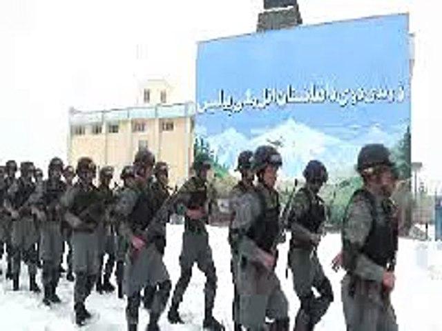 "Kabul's ""Central Unit"" Police Demonstration"