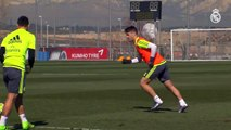 Isco, James and Kroos Amazing  free-kicks during Real Madrid C.F. training