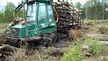 Timberjack 810D stuck in deep mud Ive never seen before, extreme mud conditions