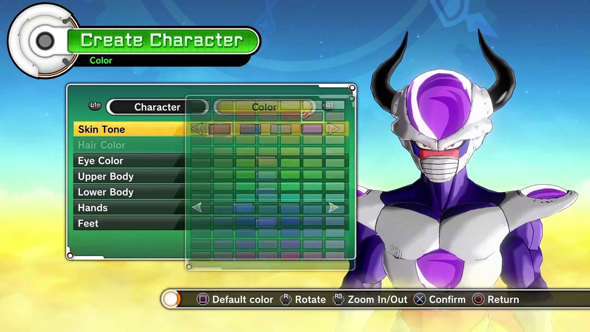Dragon Ball Xenoverse Frieza Race Character Creation Video Dailymotion