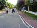 Roue arrière vélo