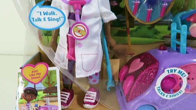 Doc McStuffins Walk 'N Talk Doc Mobile Doll Disney Junior Toy Playset with Sing-A-Long Songs!