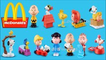 Charlie Brown & Snoopy Bobble 2015 Mcdonalds The Peanuts Movie #11 Complete Set 12 Happy Meal Toys