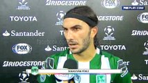 Sebastián Pérez tras el 3-0 de Nacional ante Sporting Cristal · Copa Libertadores 2016 (grupo 4, fecha 2)