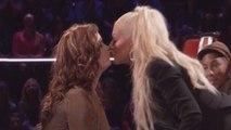 Christina Aguilera Shocks 'The Voice' Coaches and Kisses a Female Contestant