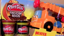 Play Doh Cars Buster Power Crane Wrecking Ball Diggin Rigs Monster Truck McQueen Disney Pi