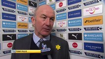 West Brom manager Tony Pulis(Leicester City 2-2 West Bromwich Albion )