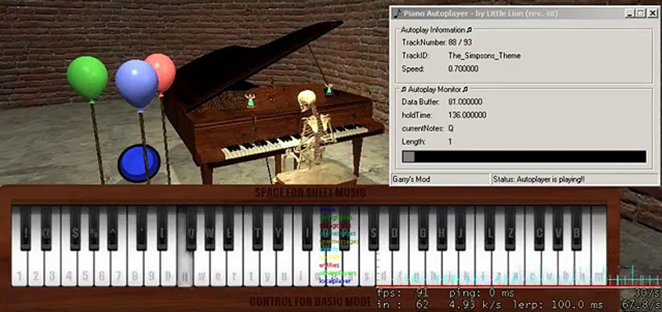 Garrys Mod Piano Sheet Music - roblox piano keyboard hacks