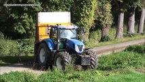 Mais Hakselen 2014 : Firma Herens in Val Dieu met New Holland FR9070 en New Holland T7250