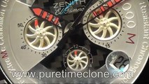 Swiss Replica Watches Replica Zenith Defy Extreme White Chrono Ultimate Edition on Bracelet A7750 sku3680