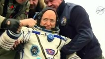 Scott Kelly lands back on earth after 340 days in space