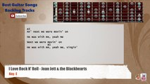 I love Rock N' Roll - Joan Jett & The Blackhearts Backing Track with scale, chords and lyrics