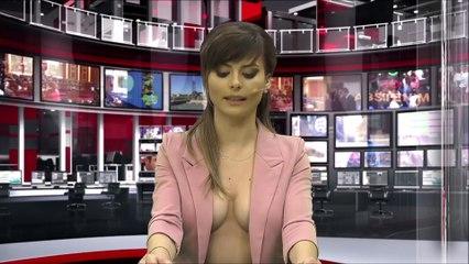 Elle présente le journal télévisé presque nue