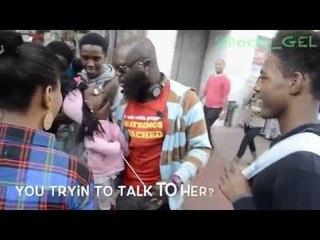 Street Ventriloquist talking trash (Cindy Hot Chocolate)