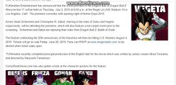Summer Dragon Ball Z Resurrection F Screenings Launch With Anime Expo English Dub Premiere