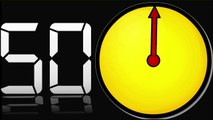 60 sec countdown clock (part 14) timer with Sound  10 sec beep dramatic atmosphere █▬█ █