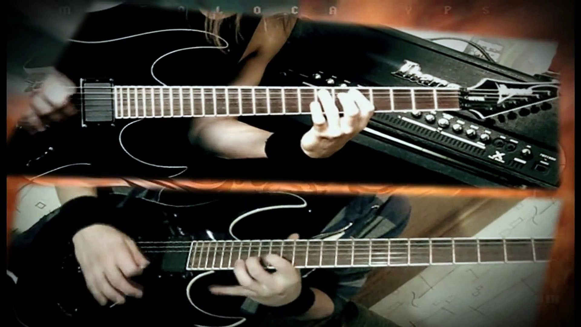 Dethklok Thunderhorse guitar cover (both parts)
