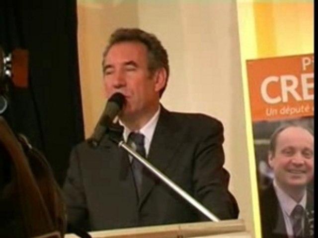 Bayrou soutient Pierre Creuzet à Nanterre 5 juin 2007