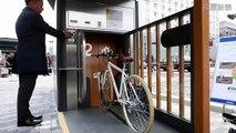 Japonaise souterrain parking à vélos fonctionne comme à� - 2016