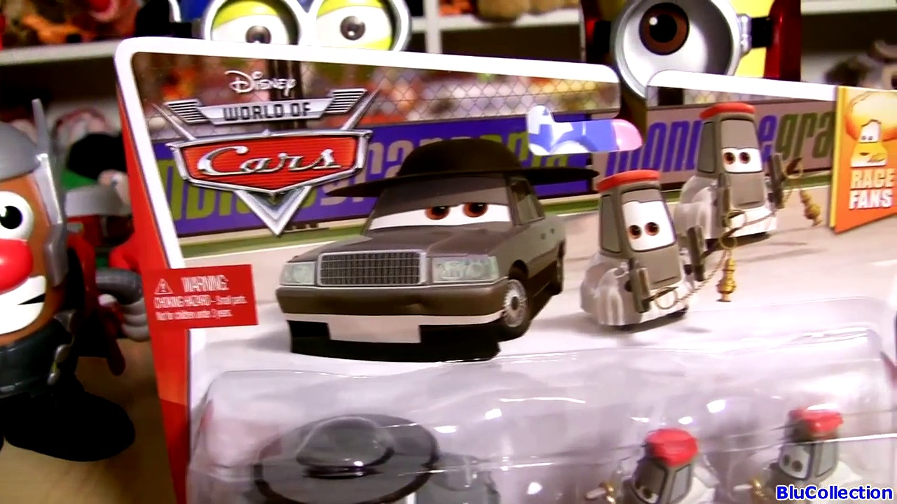 Cars 2 Father Burke with Cardinal Antonio & Cardinal Angelo Pitty Disney Pixar Cars Voitures Mattel