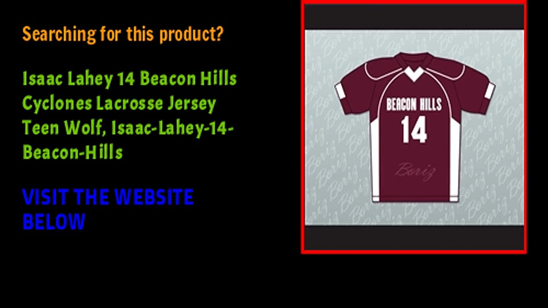 Isaac Lahey 14 Beacon Hills Cyclones Lacrosse Jersey Teen Wolf, Isaac-Lahey-14-Beacon-Hills