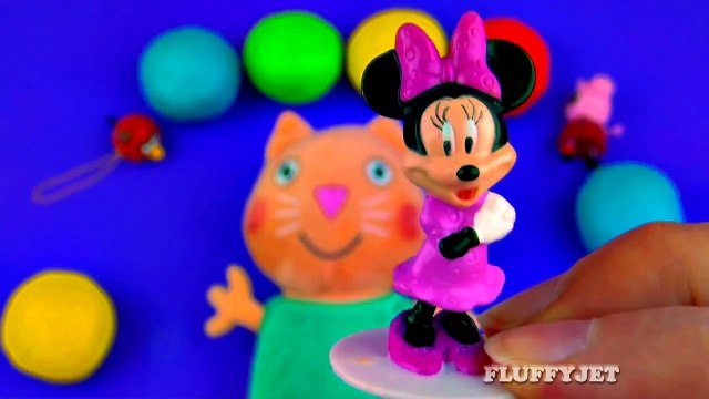 Play-Doh Suprise Eggs with Candy Cat Peppa Pig Sesame Street Shopkins Minnie Mouse LPS FluffyJet