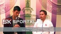 Novak Djokovic as a reporter for Sport Klub