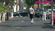 Chet Hanks Goes Skateboarding In The Fred Segal Parking Lot 3.1.16 - TheHollywoodFix.com