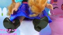 Frozen Elsa Toilet アンパンマン おもちゃ アニメ バイキンマン イタズラ ❤ スライム animekids アニメきっず animation Anpanman Toys Slim