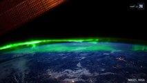 Des aurores boréales et australes en timelapse depuis la Station spatiale internationale