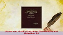 PDF  Kuney and Lloyds Contracts Transactions and Litigation 2D  EBook