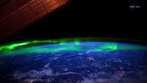 Les aurores Boréales vues de l'espace ! Magnifique